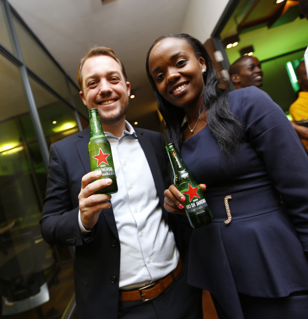 Krijn Jansen, Marketing Manager and Catherina Wanjiku,Trade Marketing Manager for Heineken East Africa