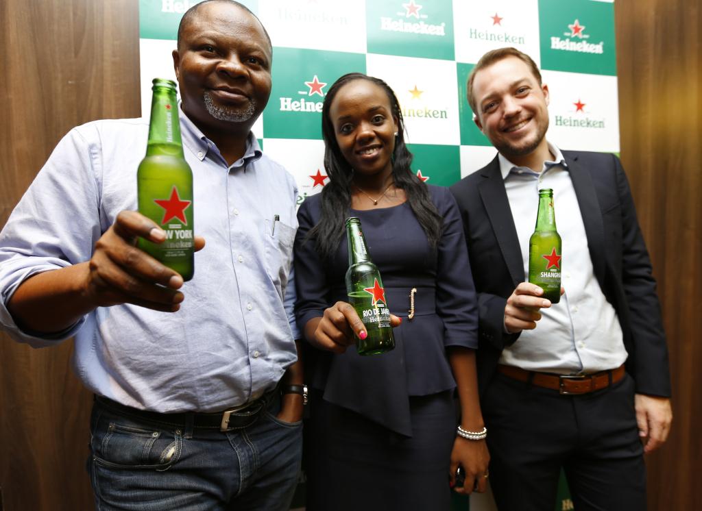 Mr. Uche Unigwe GM East Africa, Catherine Wanjiku and Krijn Jansen